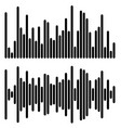 2 different equalizer eq graphics - vertical bars vector image vector image