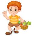 a cute boy character vector image vector image