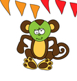 A cute brown monkey got sick vector image vector image