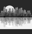 abstract big city at night vector image