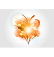 abstract flower orange light vector image vector image