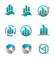 accounting finance business logo set vector image vector image
