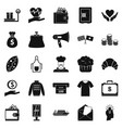 alms icons set simple style vector image vector image