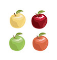 apple set in cartoon style vector image