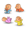 baby set on white background vector image vector image