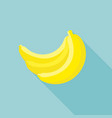banana icon with long shadow vector image vector image