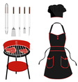 barbecue tools vector image vector image