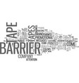 barrier tape means don t enter this area text vector image vector image