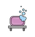 bathroom shelf and bubbles clean tool vector image