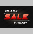 black friday sale banner design with a glitch vector image