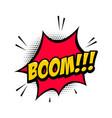 boom comic style phrase with speech bubble vector image