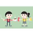 boy and girl are decayed tooth and tartar vector image