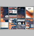 brochure template concept infographics and icons vector image vector image
