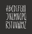 Brushy drawn font vector image