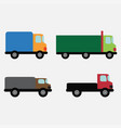 car set delivery vector image