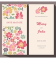 card template for Save The Date baby vector image vector image