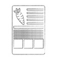 Carrot nutrition facts label template