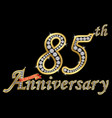 celebrating 85th anniversary golden sign with vector image