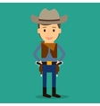 country western boy dressed as cowboy vector image