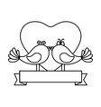 couple of doves icon vector image vector image