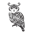 Decorative ornamental owl silhouette vector image vector image