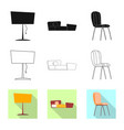 design of furniture and apartment logo vector image vector image