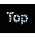 Diamond word top vector image vector image