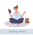 distance study self education knowledge concept vector image vector image