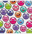 emoji emoticon seamless pattern background vector image vector image