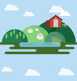 Farm animals Countryside View vector image