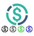 financial diagram flat icon vector image vector image