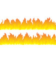 fire flames set fire lines vector image vector image