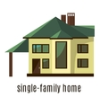Flat house icon isolated on white background vector image