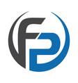 fp letter business logo design vector image vector image