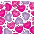 glossy hearts vector image