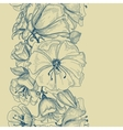 Graphic floral seamless pattern vector image vector image