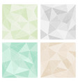 grey green and pastel beige triangle background vector image vector image