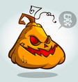 halloween pumpkin head cartoon vector image vector image