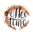 handwritten coffee time vector image vector image