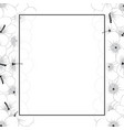 hibiscus syriacus flower outline - rose sharon vector image vector image