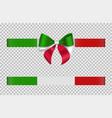 italian bow and ribbon vector image vector image