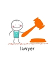 lawyer vector image vector image
