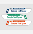 lower third banners in curve style design vector image vector image