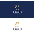 luxury logo c modern style vector image vector image