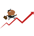 Man Running Up the Success Ladder Cartoon vector image vector image