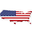 map usa with flag in 3d vector image vector image
