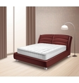 Mattress Bed In Home Interior vector image vector image