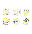 natural honey product logo set sweet summer vector image