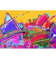 original of abstract art digital painting vector image vector image