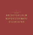 original sans serif font vector image vector image